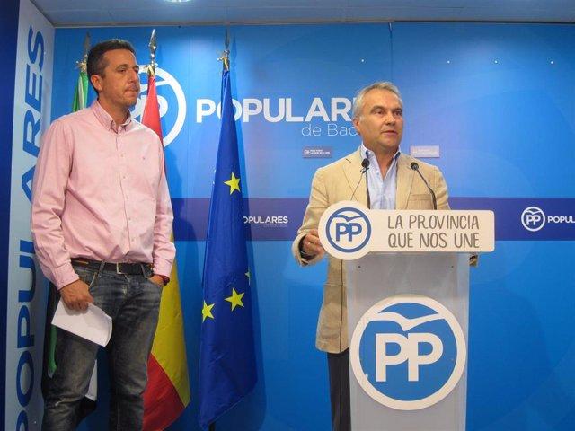 Fragoso en una comparecencia con Víctor Píriz