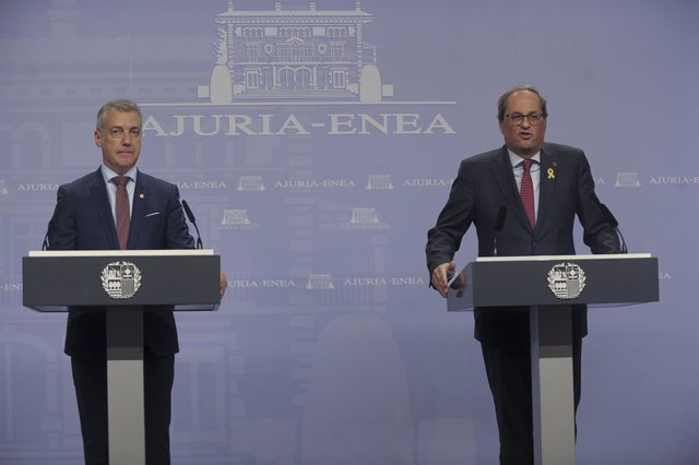 El lehendakari Iñigo Urkullu i el president de la Generalitat Quim Torra