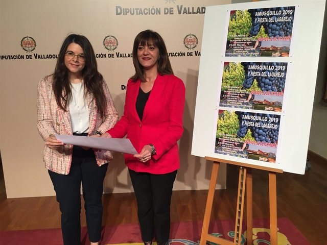 Genma Gómez y Nuria Duque presentan hoy en la Diputación al Fiesta del Lagarejo.