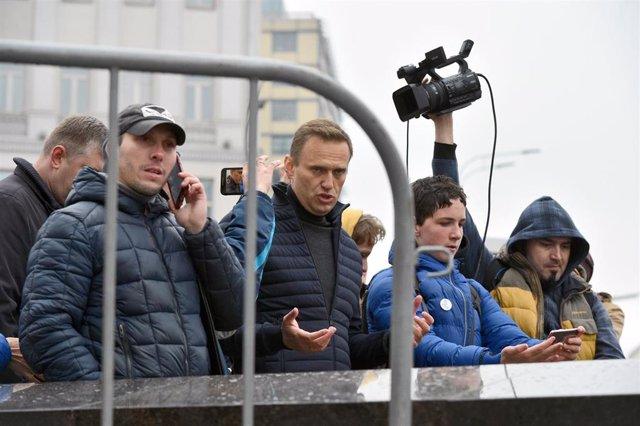 Alexei Navalni, en una manifestación en Moscú