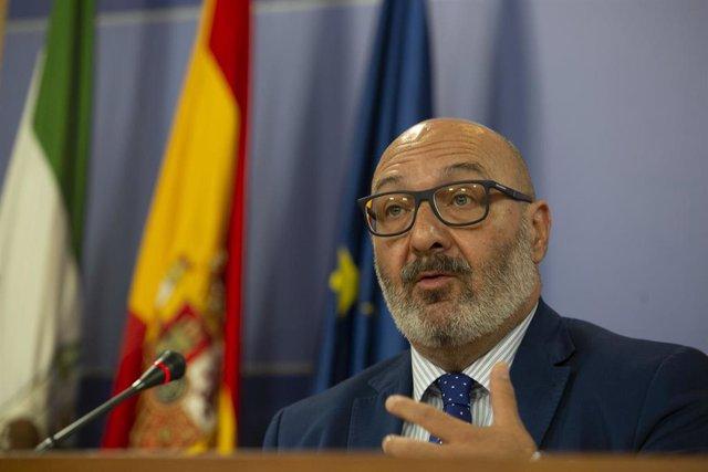 El portavoz parlamentario del grupo VOX, Alejandro Hernández