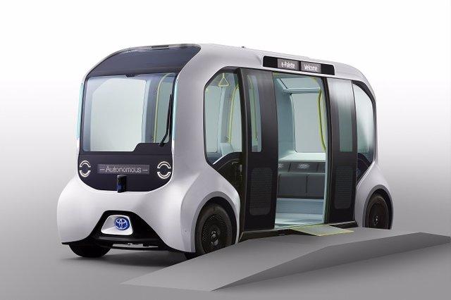 Toyota proporcionará 20 vehículos e-Pallete versión Tokio 2020 a los atletas y personal auxiliar de los Juegos Olímpicos y Paralímpicos de Tokio 2020.