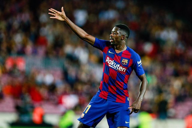 11 Ousmane Dembele from France of FC Barcelona during the La Liga match between FC Barcelona and Sevilla FC in Camp Nou Stadium in Barcelona 06 of October of 2019, Spain.