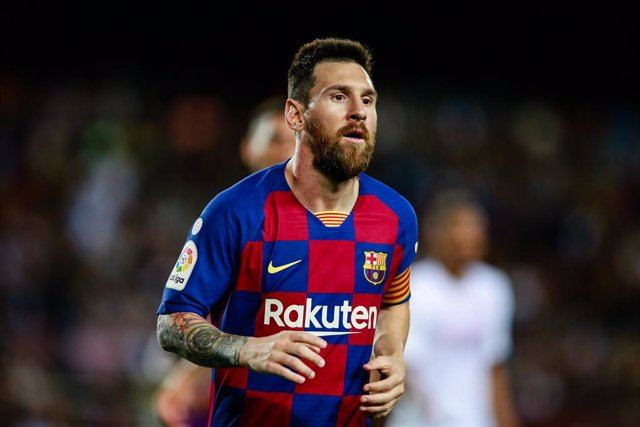 10 Lionel Messi from Argentina of FC Barcelona during the La Liga match between FC Barcelona and Sevilla FC in Camp Nou Stadium in Barcelona 06 of October of 2019, Spain.