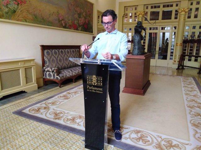 El portavoz adjunto del PP en el Parlament de Baleares, Antoni Costa.