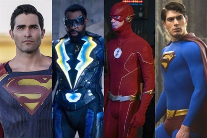The Flash, dos Superman y Black Lightning en nuevas fotos de Crisis en las Tierras Infinitas