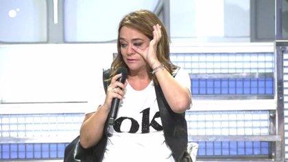 Toñi Moreno abandona entre lágrimas 'MyHyV' al creer la muerte de María Teresa Campos