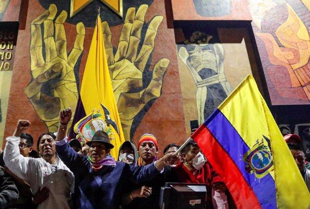 Indígenas se manifiestan en Quito contra el Gobierno de Lenín Moreno