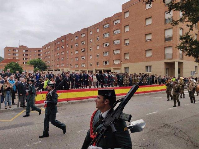 Desfilada pel dia de la patrona de la Guàrdia Civil a Catalunya