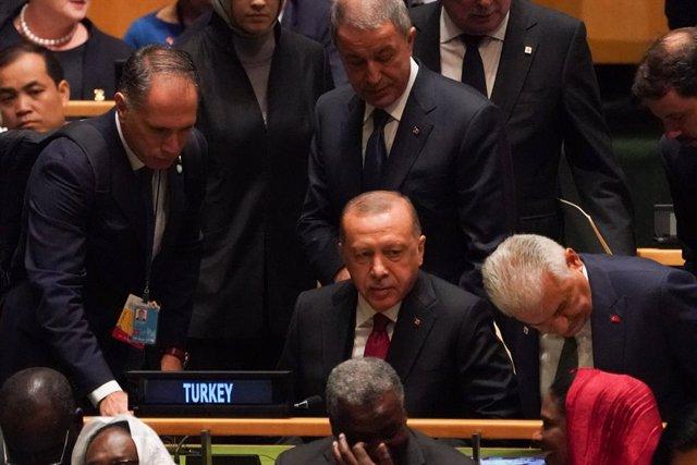 Recep Tayyip Erdogan, a l'Assemblea General de les Nacions Unides