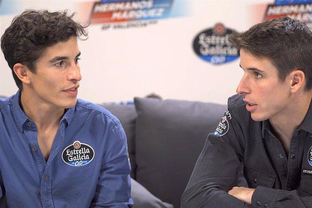 Los hermanos Marc y Álex Márquez en una entrevista para Estrella de Galicia 0,0