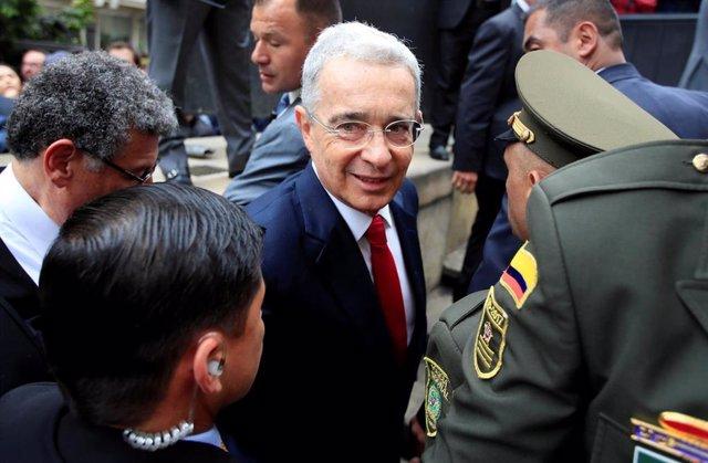 El ex presidente de Colombia Álvaro Uribe acude a declarar a la Corte Suprema de Justicia