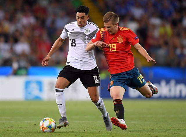 Dani Olmo, en la final de la Eurocopa Sub-21 2019.