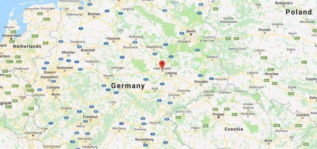 La localitat de Halle, a l'est d'Alemanya.