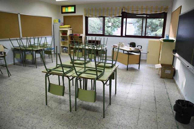 Aula de Primria del Collegi d'Educació Infantil i Primria (CEIP) Joaquín Costa de Madrid.
