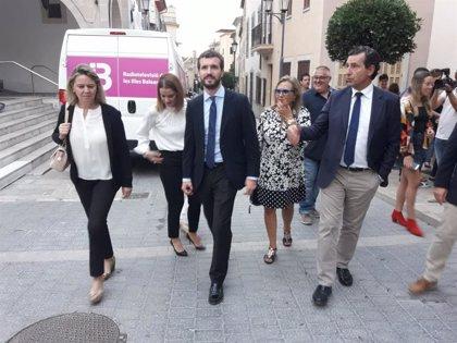 """Casado pide infraestructuras para """"atenuar"""" catástrofes meteorológicas en el aniversario de las inundaciones de Mallorca"""