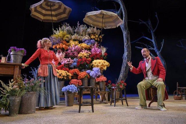 Montaje 'La Rambla de les Floristes' en el TNC
