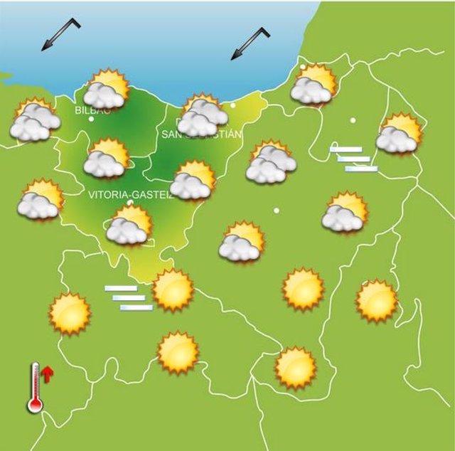 Previsiones meteorológicas para el 10 de octubre.