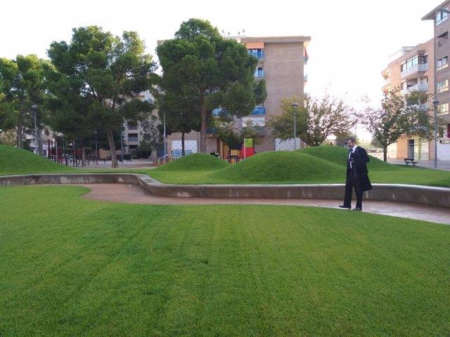 Parque San Martín de Huesca.