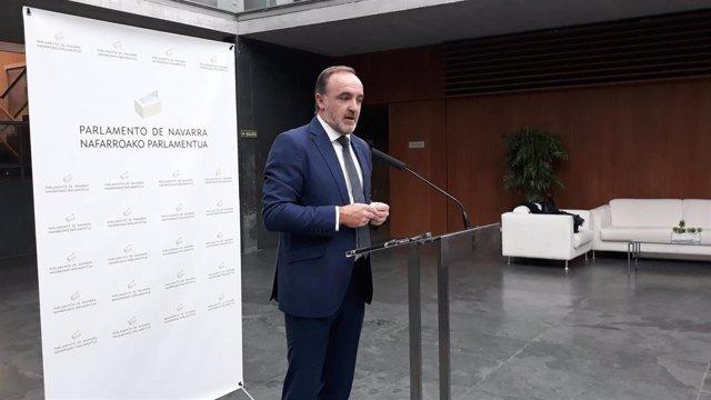 El portavoz de Navarra Suma en el Parlamento foral, Javier Esparza.