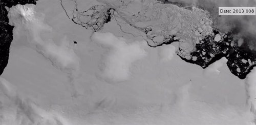 Roturas en el frente de hielo antártico