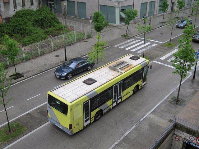 Autobús urbano en Santiago de Compostela