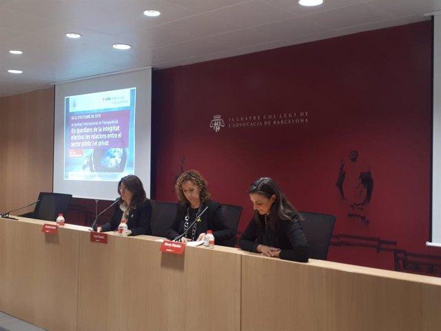 La consellera de Justícia, Ester Capella, durant el IV Seminari Internacional de Transparència