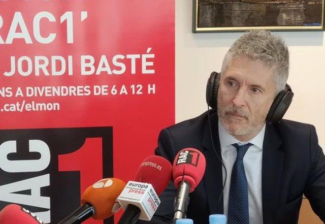 Entrevista al ministro del Interior en funciones, Fernando Grande-Marlaska