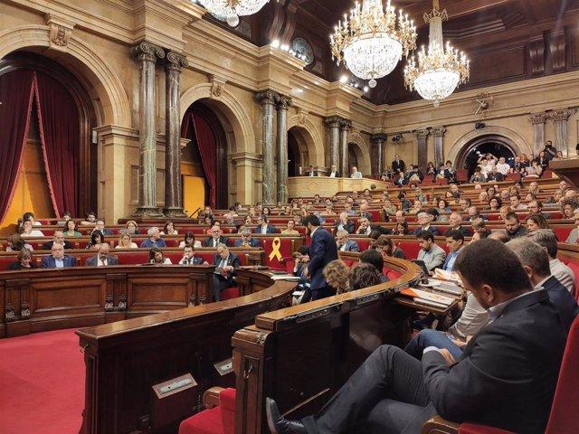 Pleno del Parlament del 9 de octubre.