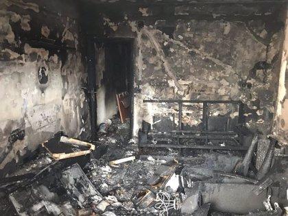 Dos mujeres intoxicadas por humo en el incendio de la terraza de un piso de San Sebastián de los Reyes