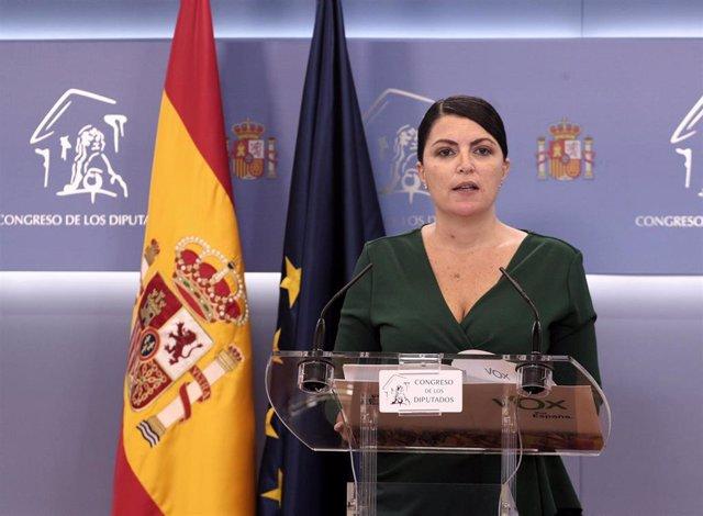 La secretaria general del grupo parlamentario de Vox en el Congreso, Macarena Olona
