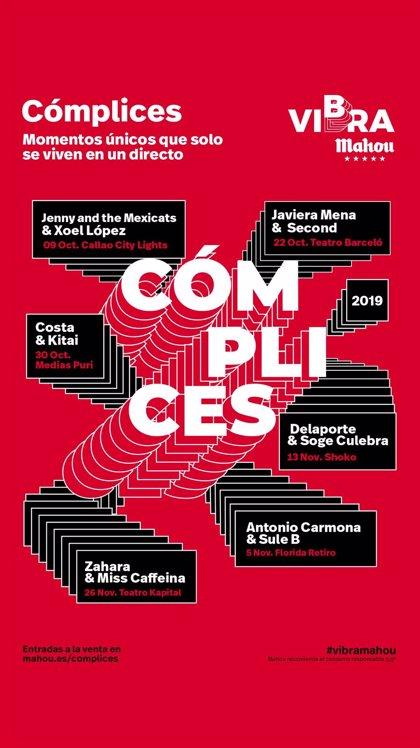 Miss Caffeina con Zahara o Javiera Mena con Second, entre las propuestas de 'Cómplices de Vibra Mahou' en Madrid