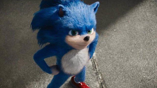 Primer diseño de Sonic en Sonic, la Película