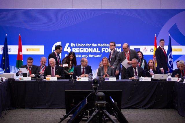 Fòrum Regional de la Unió pel Mediterrani, amb la comissària Federica Mogherini i Josep Borrell