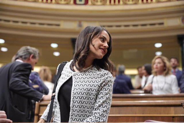 La portavoz parlamentaria de Ciudadanos, Inés Arrimadas, llega a la segunda reunión del período de sesiones de la XIII legislatura del Congreso de los Diputados, en Madrid (España), a 17 de septiembre de 2019.