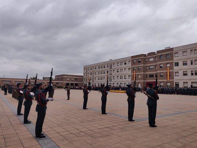 Acte de celebració de la patrona de la Gurdia Civil a Catalunya a la comandncia de Sant Andreu de la Barca (Barcelona)