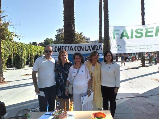 Acto organizado por Faisem en Jaén con motivo del Día de la Salud Mental.