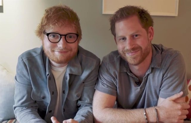 Ed Sheeran y el Príncipe Harry de Inglaterra