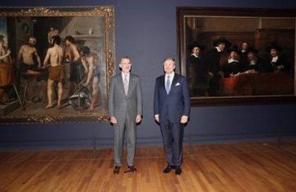 """Casa Real.- Felipe VI y Guillermo de los Países Bajos inauguran la muestra """"Rembrandt-Velázquez"""" en el Rijksmuseum de Amsterdam"""