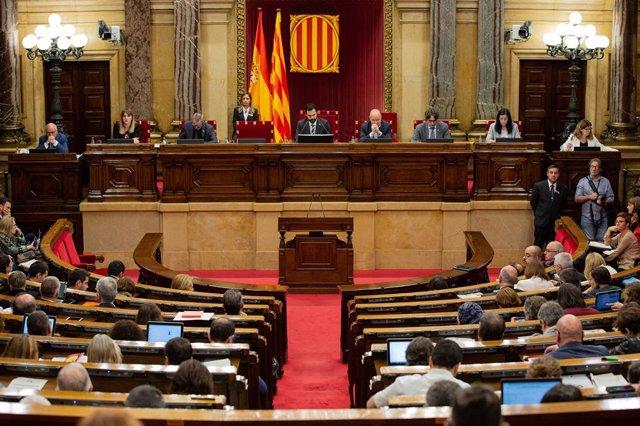 Ple del Parlament de Catalunya, en una imatge d'arxiu.