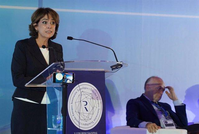 La ministra de Justicia en funciones , Dolores Delgado