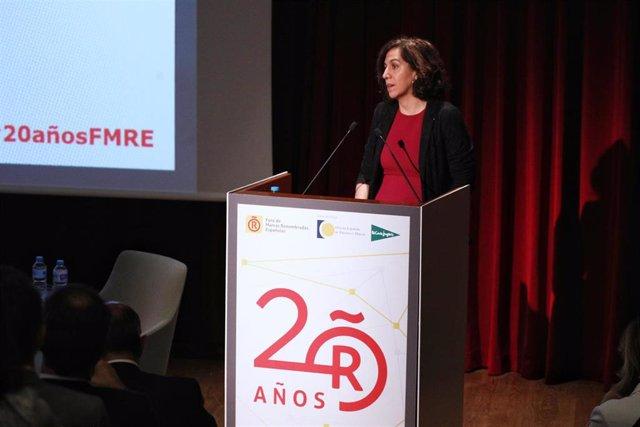 La Secretaria de Estado de la España Global, Irene Lozano, interviene en el 20 aniversario del Foro de Marcas Renombradas Españolas celebrado en el Museo del Prado de Madrid