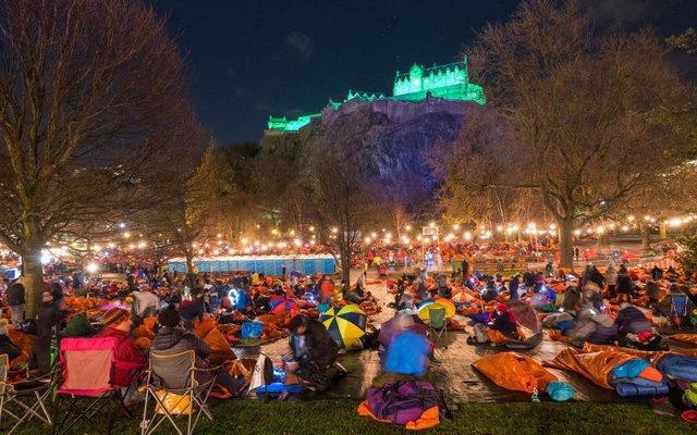 Acción a favor de personas sin hogar en Edimburgo