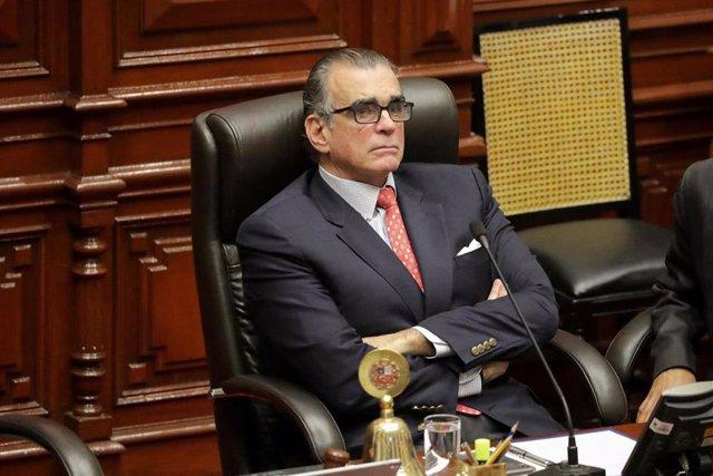 El expresidente del Congreso de Perú Pedro Olaechea.