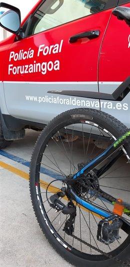 Bicicleta recuperada por la Policía Foral tras un hurto.