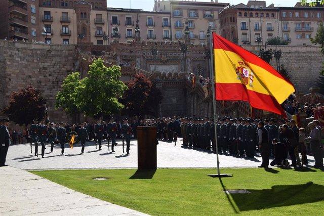 La Guardia Civil de Teruel celebra este sábado a su patrona en el centro de Teruel.