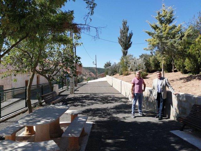 Una ladera de Valdecebro de Teruel se convierte en zona de recreo.