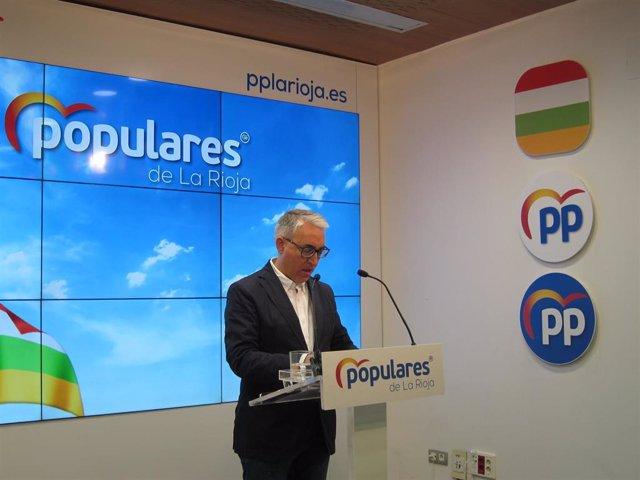 El portavoz del Grupo Popular en la Cámara regional, Jesús Ángel Garrido