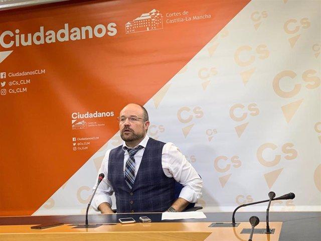 El presidente del Grupo Parlamentario Ciudadanos en las Cortes de C-LM, Alejandro Ruiz, en nota de prensa