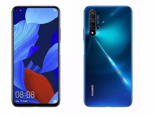 Huawei lanza en España su 'smartphone' Nova 5T, con los servicios de Google
